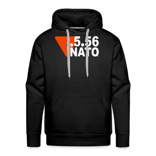 .5.56 NATO BLANC - Sweat-shirt à capuche Premium pour hommes