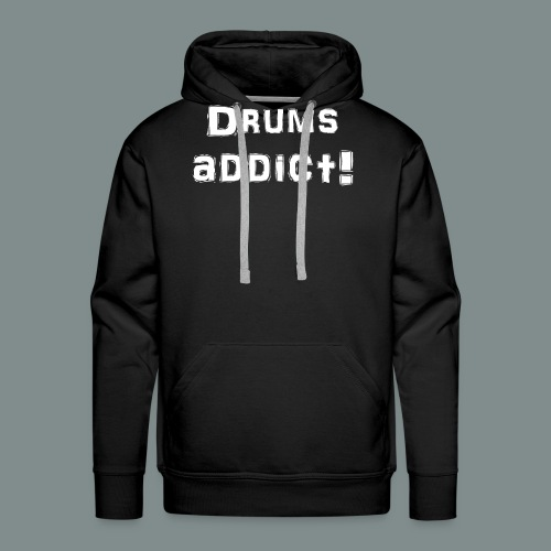 Drums addict white - Sweat-shirt à capuche Premium pour hommes