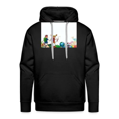 Fröhliche Schulkinder - Männer Premium Hoodie