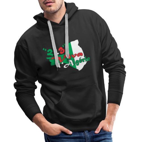 modelage 123 viva l'algerie - Sweat-shirt à capuche Premium pour hommes