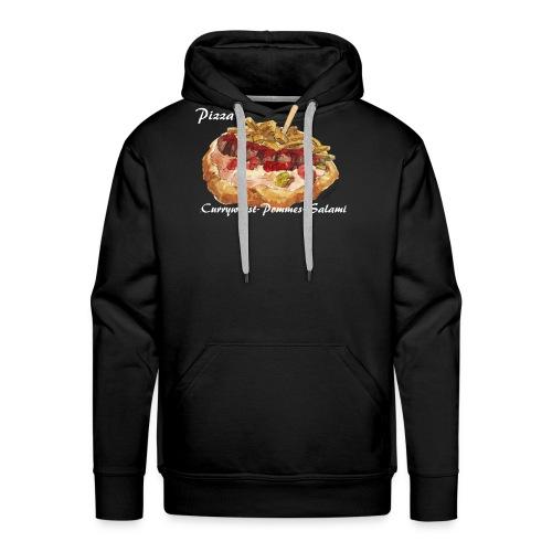 Pizza Currywurst-Pommes-Salami - Männer Premium Hoodie