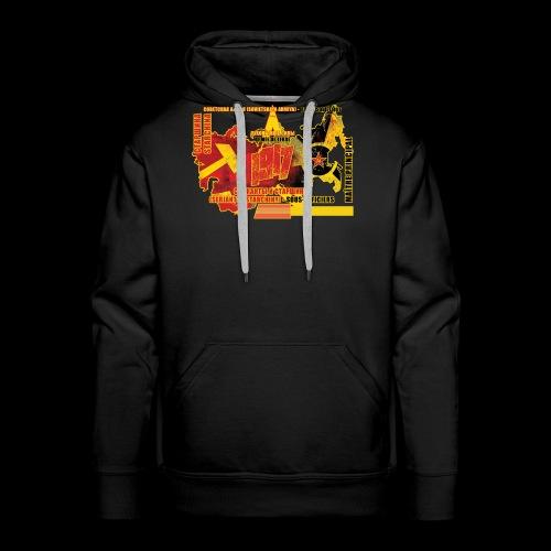 mai tre principal C Arme e rouge - Sweat-shirt à capuche Premium pour hommes