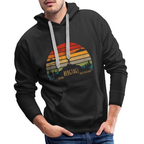 lustige Wanderer Sprüche Shirt Geschenk Retro - Männer Premium Hoodie