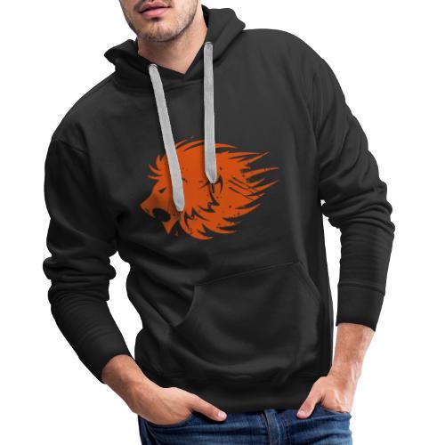 MWB Print Lion Orange - Men's Premium Hoodie