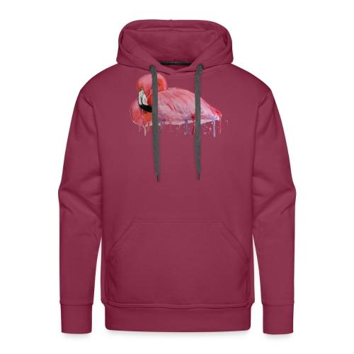 Pink Flamingo Watercolors Nadia Luongo - Felpa con cappuccio premium da uomo