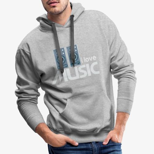 Amo la música 02 - Sudadera con capucha premium para hombre