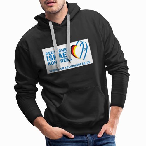 Deutscher Israelkongress Logo - Männer Premium Hoodie