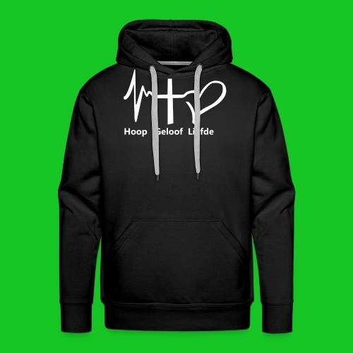 Hoop geloof en liefde - Mannen Premium hoodie