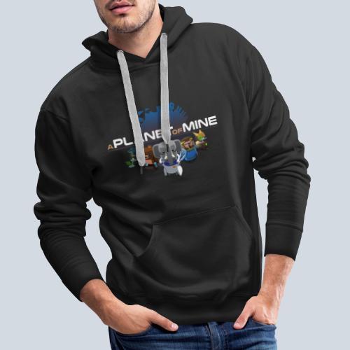 logo planetofmine dark HD - Sweat-shirt à capuche Premium pour hommes