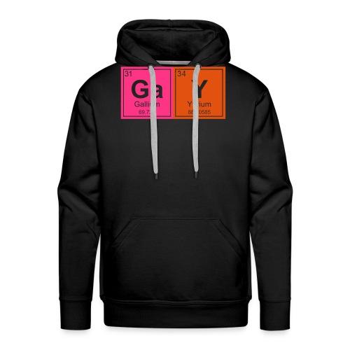 Geeky Gay Periodic Elements - Men's Premium Hoodie
