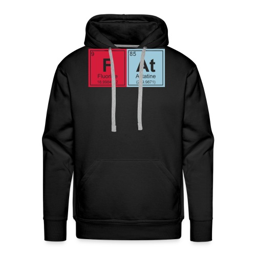 Geeky Fat Periodic Elements - Men's Premium Hoodie