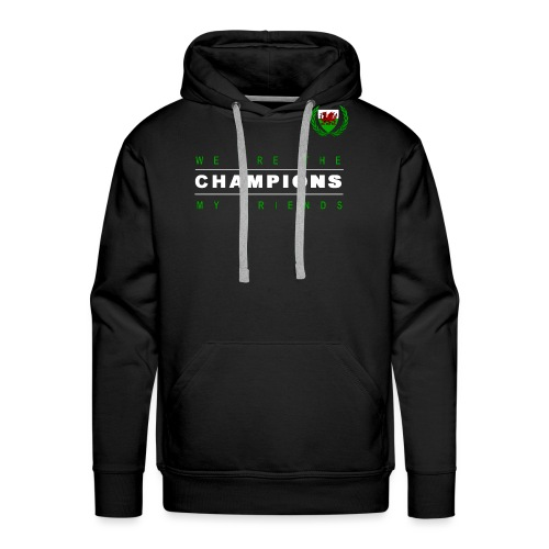 Wales Champions men red+green - Men's Premium Hoodie