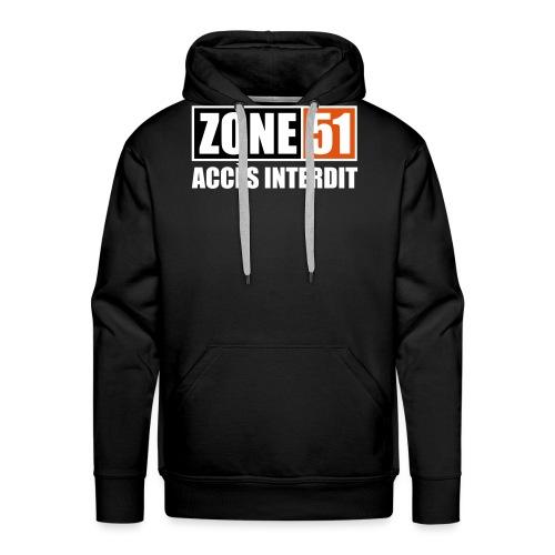 ZONE 51 - ACCES INTERDIT - Sweat-shirt à capuche Premium pour hommes
