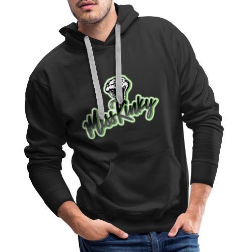 Logo Miss Kinky vert - Sweat-shirt à capuche Premium pour hommes