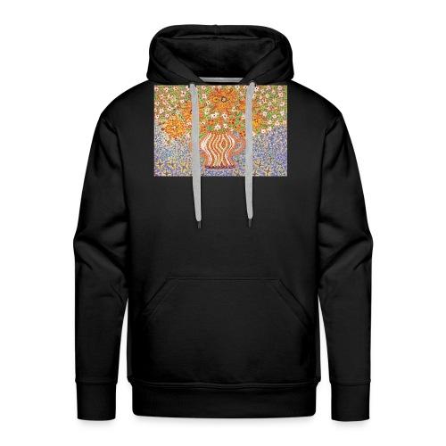 Orange Blumen - Männer Premium Hoodie