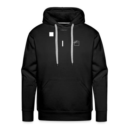 /obeserve/ sweater (M) - Premium hettegenser for menn