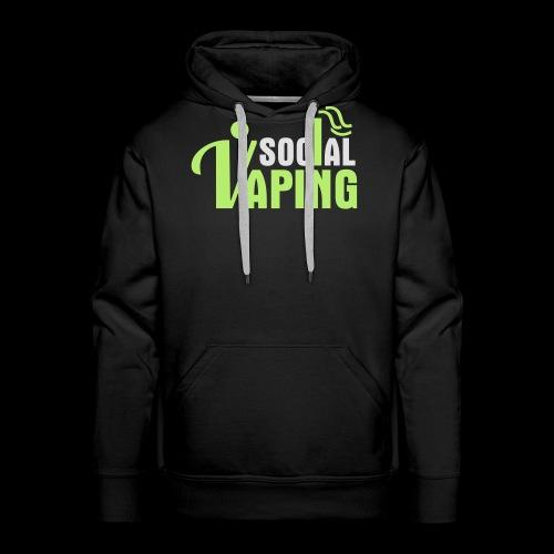 SOCIAL VAPING LOGO - Men's Premium Hoodie