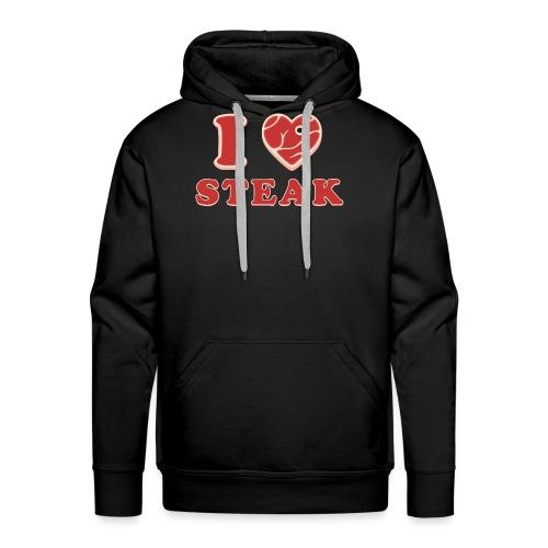 I love steak - Steak in Herzform Grillshirt - Barc - Männer Premium Hoodie