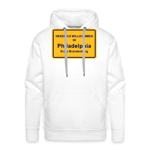 Ortsschild Philadelphia - Männer Premium Hoodie