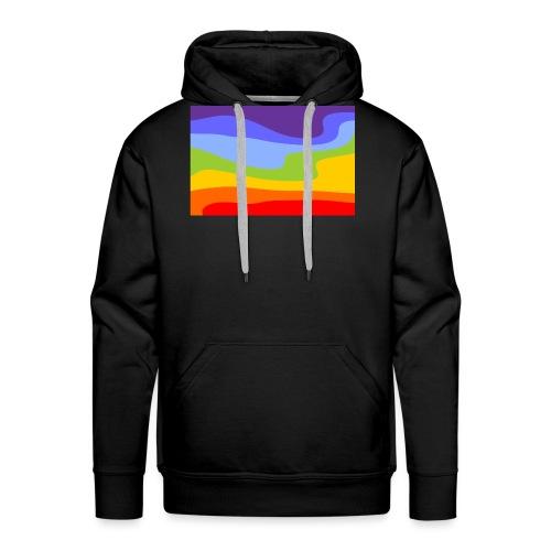 Hintergrund Regenbogen Fluss - Männer Premium Hoodie