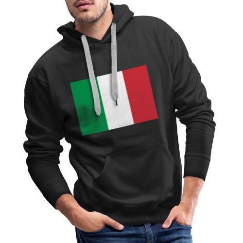 2000px Flag of Italy svg - Felpa con cappuccio premium da uomo