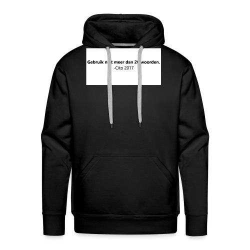Gebruik niet meer dan 20 woorden - Mannen Premium hoodie