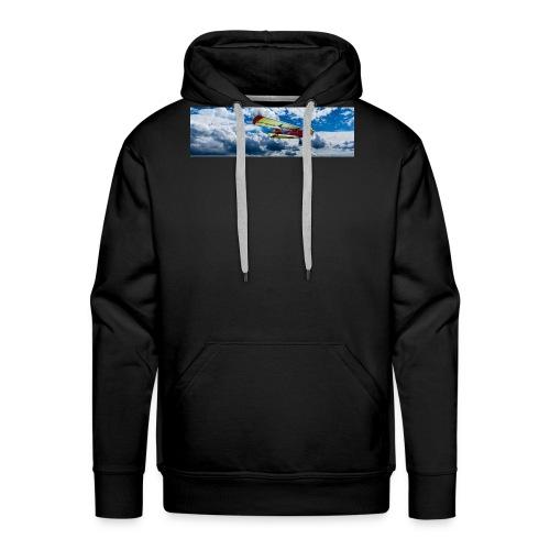 aircraft flying - Sweat-shirt à capuche Premium pour hommes