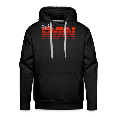 Hey It's Ryan! Red Fade - Men's Premium Hoodie