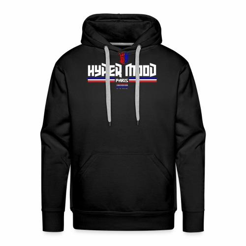 paris hyper mood white police - Sweat-shirt à capuche Premium pour hommes