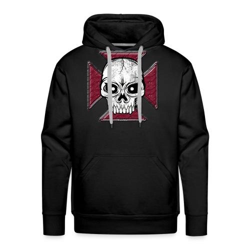 20-07 Iron Cross Skull, pääkallo tekstiilit ym. - Miesten premium-huppari