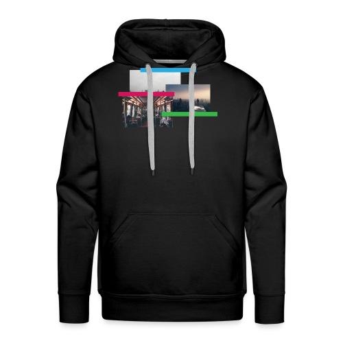 colours - Sudadera con capucha premium para hombre