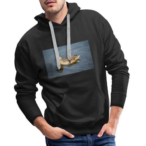 Ente im Wasser - Männer Premium Hoodie