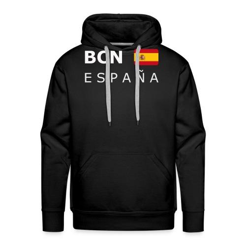 BCN ESPAÑA white-lettered 400 dpi - Men's Premium Hoodie