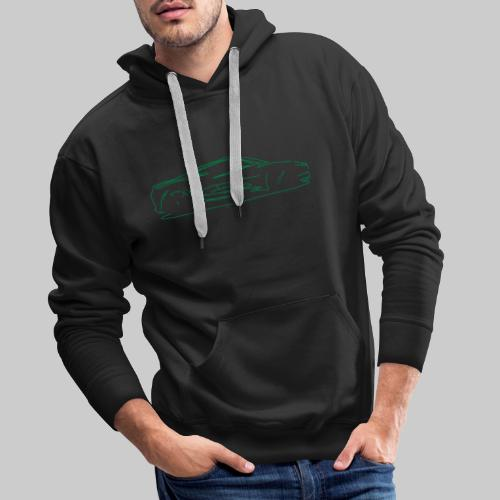 car sketch - Men's Premium Hoodie