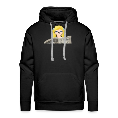 Girl with Newspaper - Men's Premium Hoodie