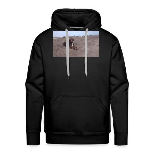 Chocolate en la playa - Sudadera con capucha premium para hombre