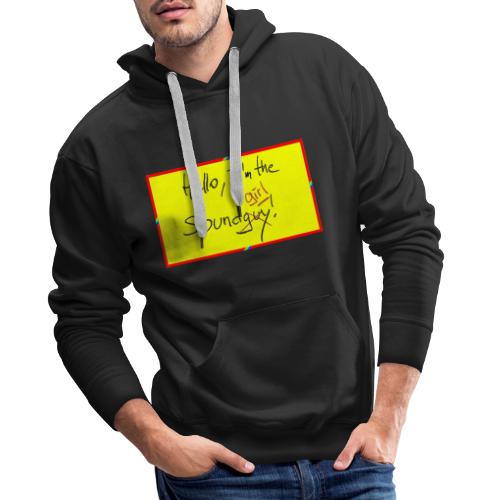hello, I am the sound girl - yellow sign - Men's Premium Hoodie