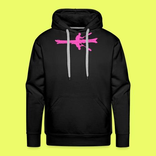 Kayak_Silhouette_pink - Männer Premium Hoodie