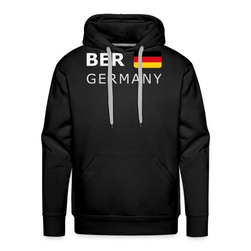 BER GERMANY GF white-lettered 400 dpi - Men's Premium Hoodie