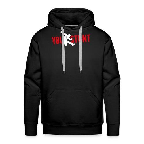 Youstunt Logo Digitaldruck ohne Claim Weiß Rot - Männer Premium Hoodie