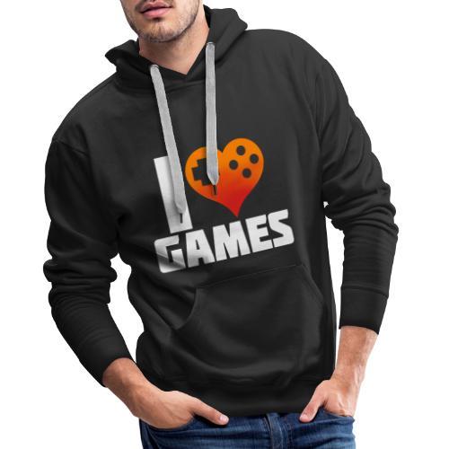 I <3 Games - Männer Premium Hoodie
