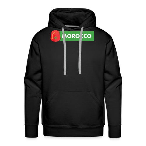 morocco, Maroc, tarbouch marocain - Sweat-shirt à capuche Premium pour hommes