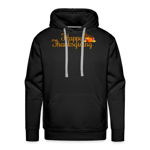 Happy Thanksgiving Words - Men's Premium Hoodie