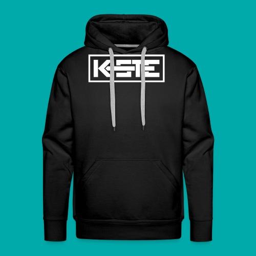 K-STE Logo weiß - Männer Premium Hoodie