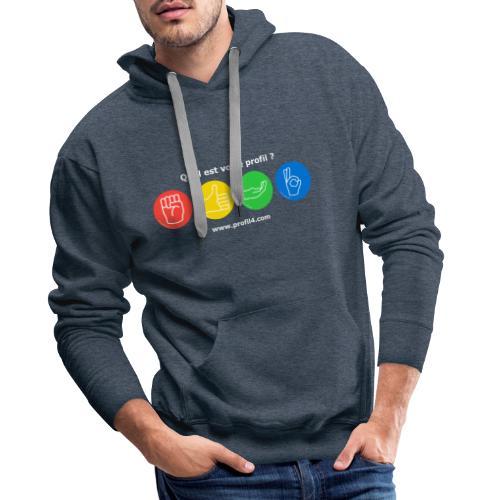 Quel est votre profil DISC ? - Sweat-shirt à capuche Premium pour hommes