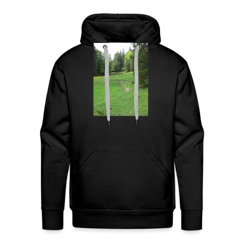 Grüne Landschaft - Männer Premium Hoodie
