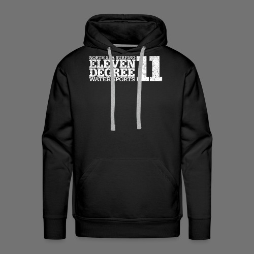 eleven degree white (oldstyle) - Men's Premium Hoodie