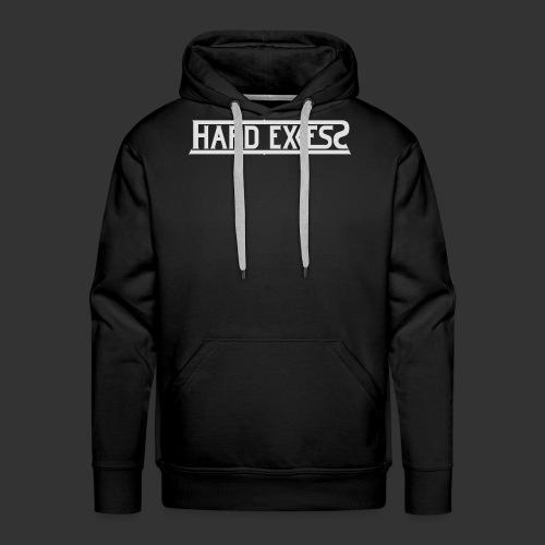 HARD EXCESS Logo weiß - Männer Premium Hoodie