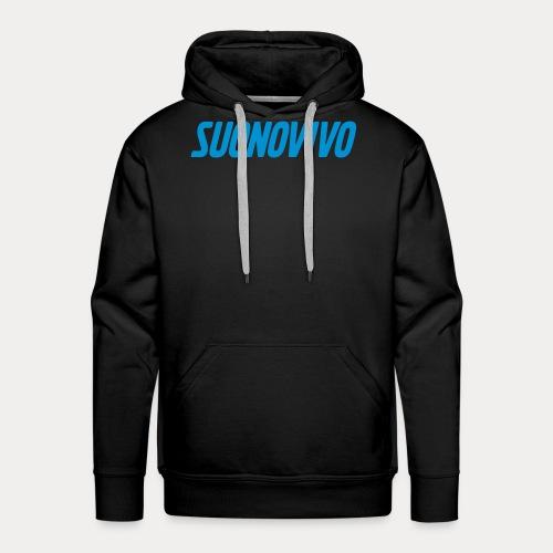 suonovivo_logo solo logo - Felpa con cappuccio premium da uomo