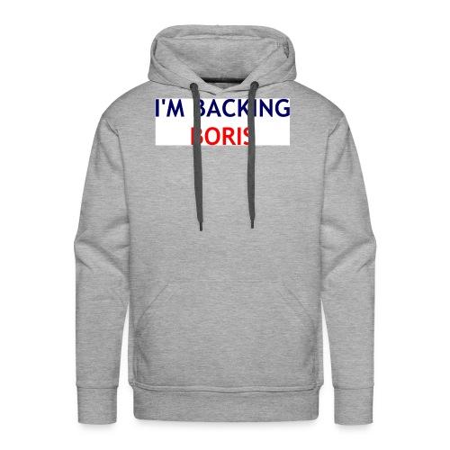 Backing Boris - Boxer Shirts - Men's Premium Hoodie